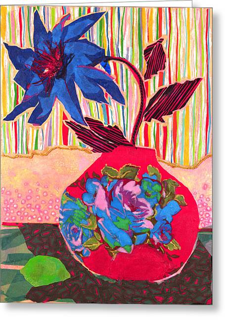 Diane Fine Greeting Cards - Lime Greeting Card by Diane Fine