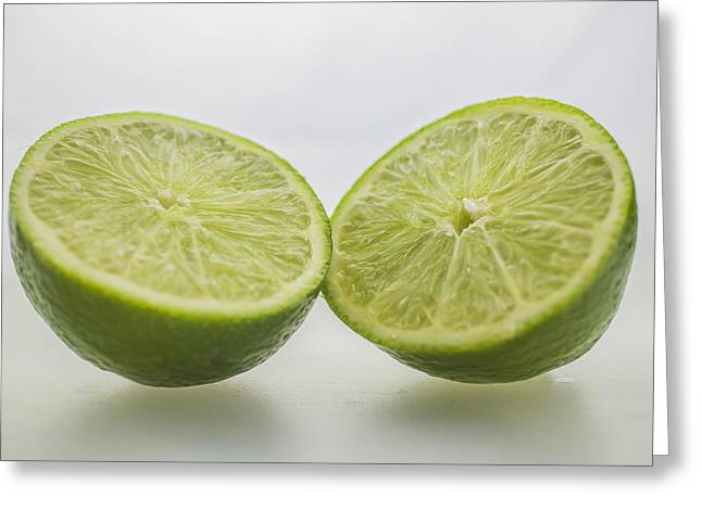 Sour Greeting Cards - Lime Food Macro 2 Greeting Card by David Haskett