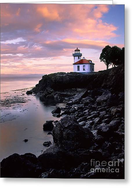 Pacific Northwest Greeting Cards - Lime Kiln Dawn Greeting Card by Inge Johnsson