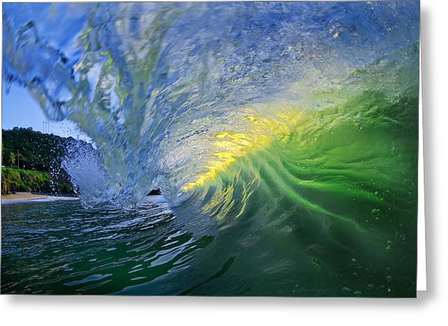 Ocean Art Photography Greeting Cards - Limelight Greeting Card by Sean Davey