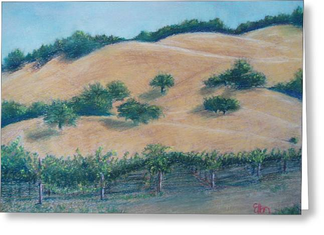 Sonoma Pastels Greeting Cards - Limerick Lane in Healdsburg Greeting Card by Ellen Minter