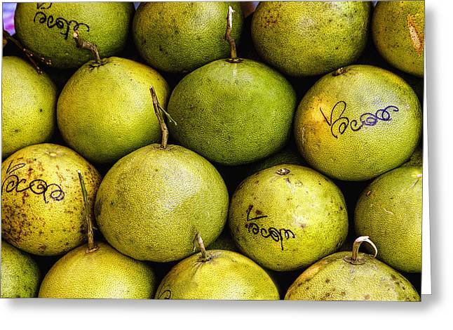 Jean Noren Greeting Cards - Limes Greeting Card by Jean Noren