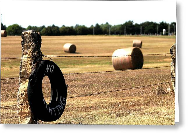 Limestone And Hay Greeting Card by Jason Drake