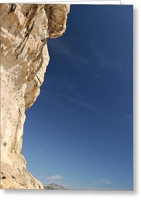 Luna Greeting Cards - Limestone Cliffs On The Beach, Cala Greeting Card by Panoramic Images