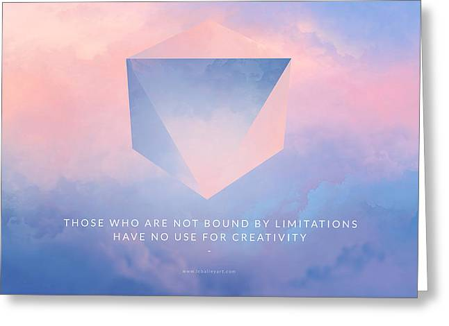 Abstract Artist Greeting Cards - Limitations Motivational Art Greeting Card by LC Bailey