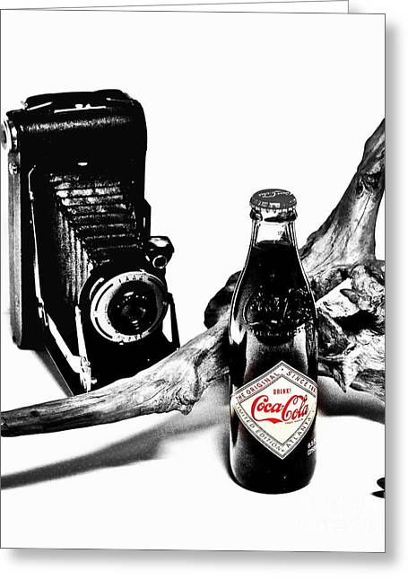 Sodamuseum Greeting Cards - Limited Edition Coke - No.008 Greeting Card by Joe Finney