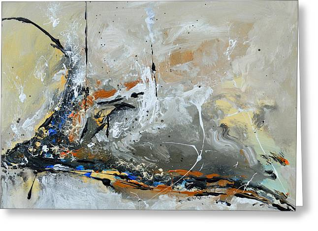 Limitless 1 - Abstract Painting Greeting Card by Ismeta Gruenwald