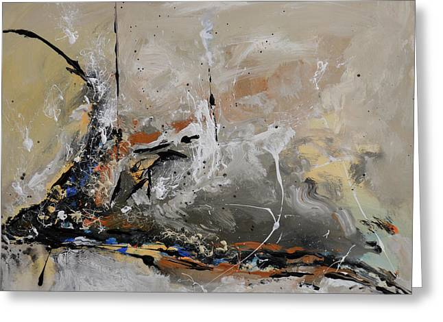 Limitless Greeting Cards - Limitless - Abstract Painting Greeting Card by Ismeta Gruenwald