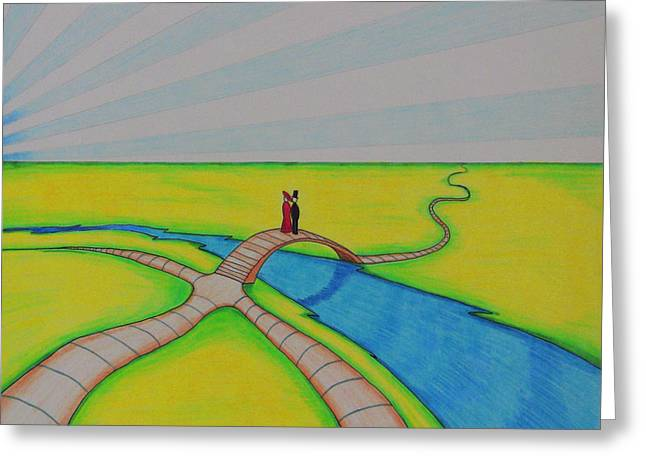 Horizon Pastels Greeting Cards - Limitless Horizons Greeting Card by Gary Henderson