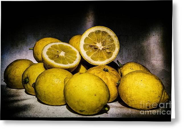 Limoni Greeting Cards - Limoni Greeting Card by Maria grazia Gardella