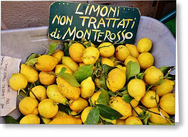 Limoni Greeting Cards - Limoni non trattati Greeting Card by Dany  Lison