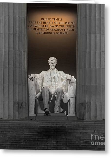 Lincoln And Columns Greeting Card by Jerry Fornarotto