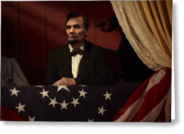 Lincoln at Fords Theater 2 Greeting Card by Ray Downing