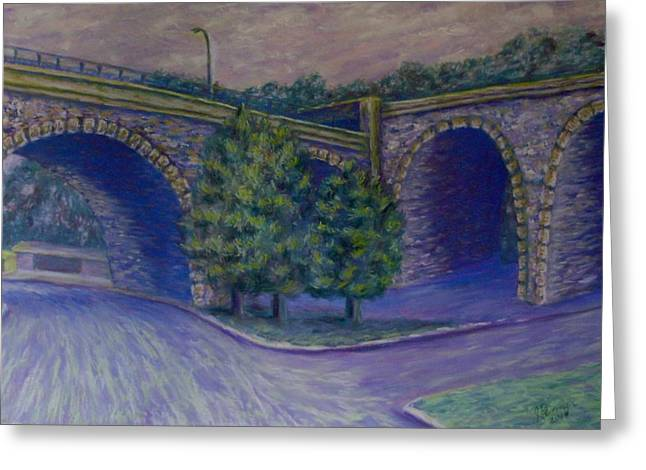 Pittsburgh Pastels Greeting Cards - Lincoln Ave Bridge Pittsburgh Greeting Card by Joann Renner