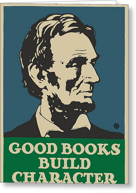 Decorative Greeting Cards - Lincoln Book Poster Greeting Card by Gary Grayson