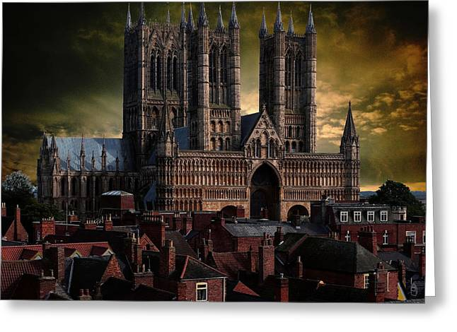 Lincoln Cathedral Greeting Card by Martin Billings