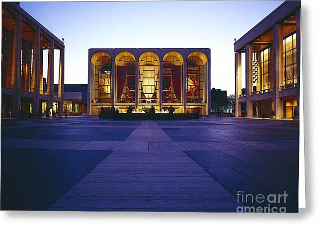 Lincoln Center Greeting Cards - Lincoln Center Main Plaza, Nyc Greeting Card by Rafael Macia