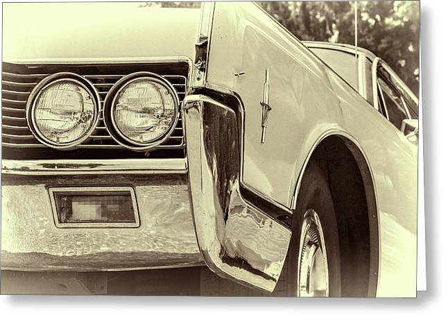 Lincoln Continental Greeting Card by Joan Carroll