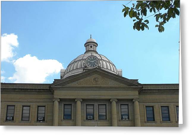 155 Greeting Cards - Lincoln Courthouse Logan County IL Greeting Card by Thomas Woolworth