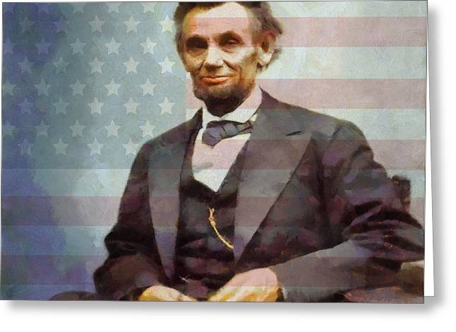Dignity Greeting Cards - Lincoln Greeting Card by Dan Sproul