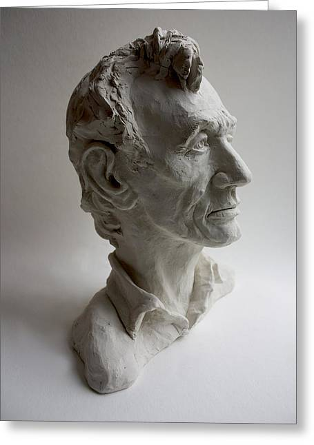 Slavery Sculptures Greeting Cards - Lincoln Greeting Card by Derrick Higgins
