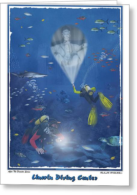 Shark Digital Art Greeting Cards - Lincoln Diving Center Greeting Card by Mike McGlothlen