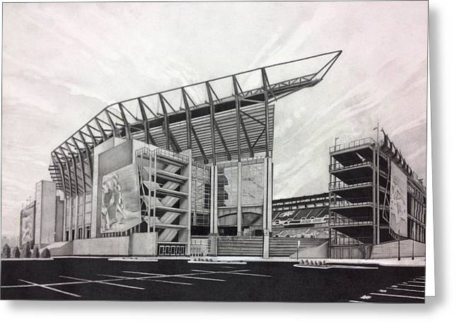 Field. Cloud Drawings Greeting Cards - Lincoln Financial Field Greeting Card by Gary Reising
