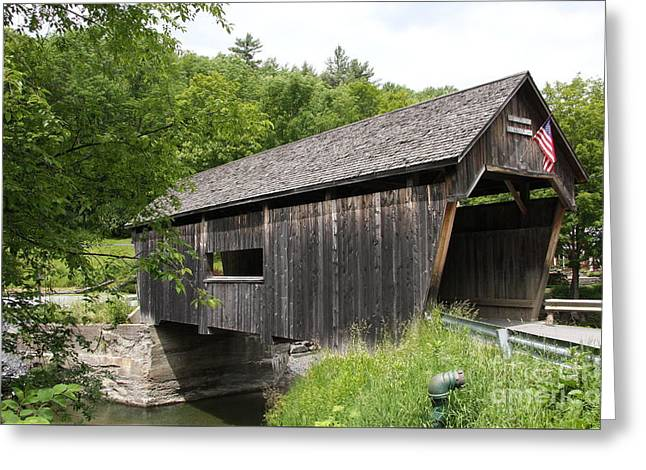 New England Village Greeting Cards - Lincoln Gap Covered Bridge Greeting Card by Christiane Schulze Art And Photography