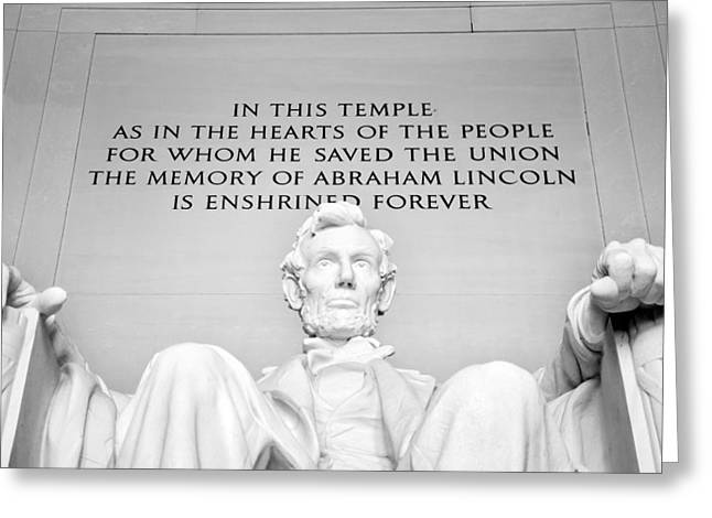 Arlington Greeting Cards - Lincoln Greeting Card by Greg Fortier