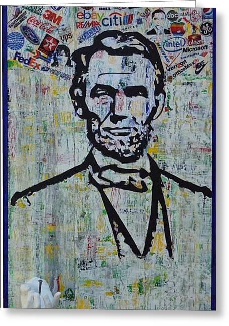 Proclamation Mixed Media Greeting Cards - Lincoln- Hawaii Greeting Card by Alireza Vazirabadi