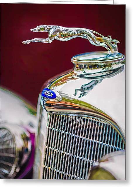 Lincoln Images Greeting Cards - Lincoln Hood Ornament - Grille Emblem -1187c Greeting Card by Jill Reger