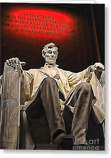 Lincoln Speech Digital Greeting Cards - Lincoln Greeting Card by Mr Fotog
