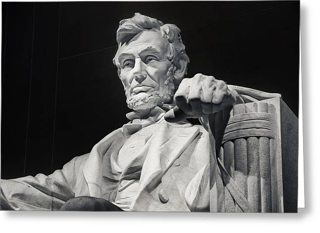 Recently Sold -  - Civil Greeting Cards - Lincoln Greeting Card by Joan Carroll