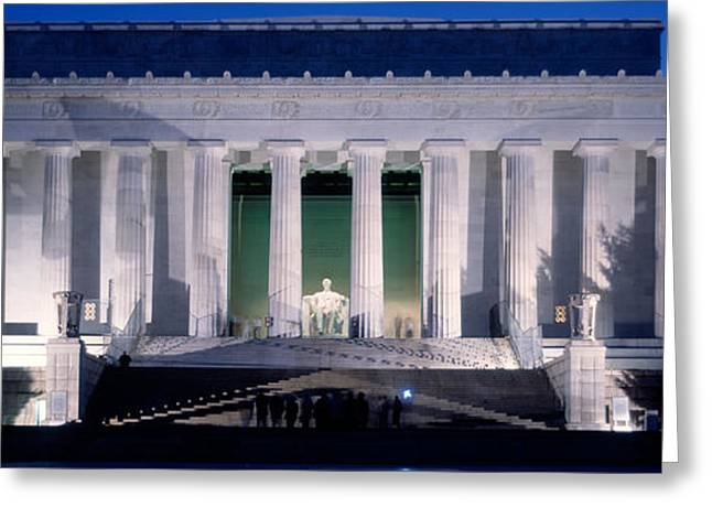 Lincoln Memorial At Dusk, Washington Greeting Card by Panoramic Images