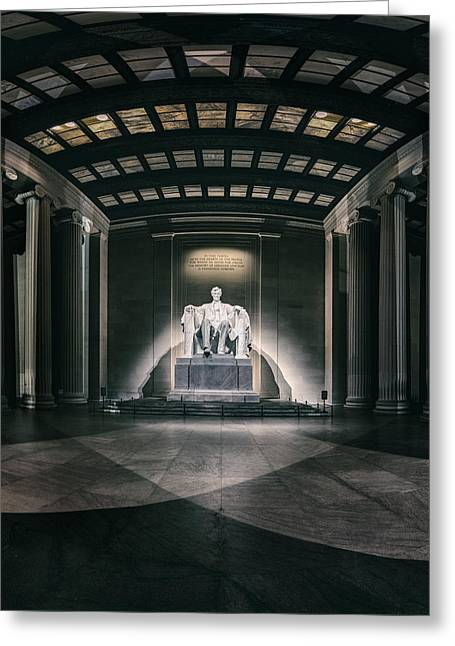 Historic Statue Digital Art Greeting Cards - Lincoln Memorial Greeting Card by Eduard Moldoveanu