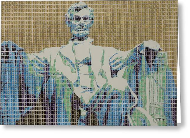 Lincoln Memorial Mixed Media Greeting Cards - Lincoln Memorial Greeting Card by Gary Hogben