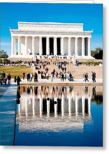 Arlington Greeting Cards - Lincoln Memorial Greeting Card by Greg Fortier