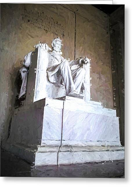 Ike Krieger Greeting Cards - Lincoln Memorial Greeting Card by Ike Krieger