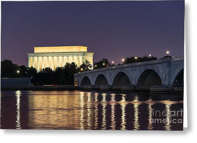 President Of America Greeting Cards - Lincoln Memorial  Greeting Card by John Greim