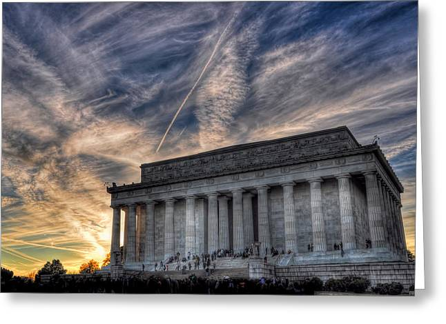 Marbel Greeting Cards - Lincoln Memorial Greeting Card by Karl Barth