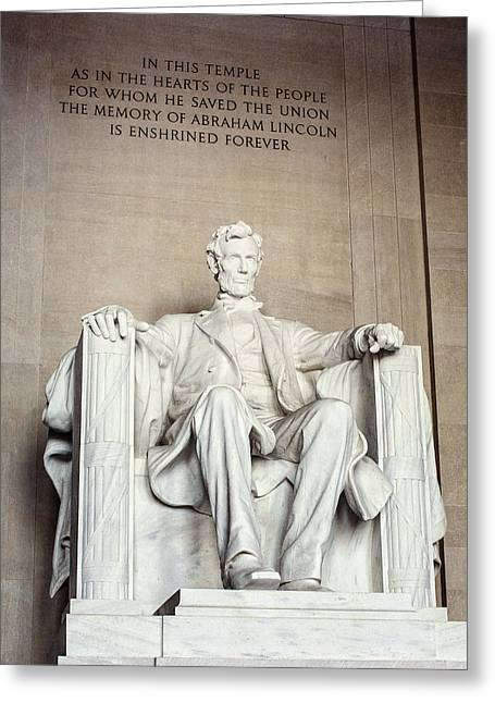 Lisa Russo Greeting Cards - Lincoln Memorial Greeting Card by Lisa Russo