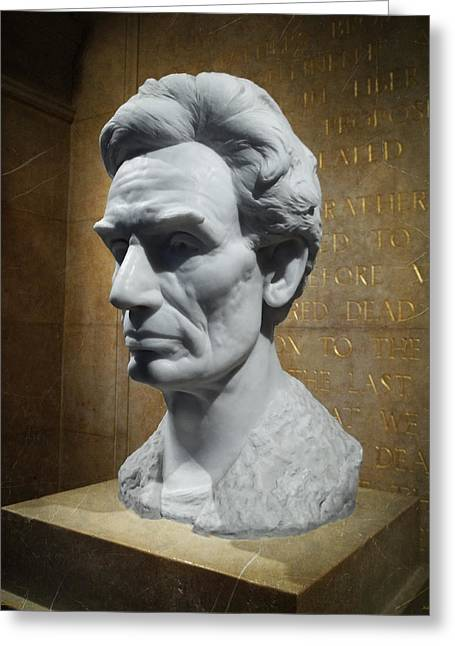 Signature Digital Art Greeting Cards - Lincoln Memorial Sculpt Greeting Card by Glenn McCarthy