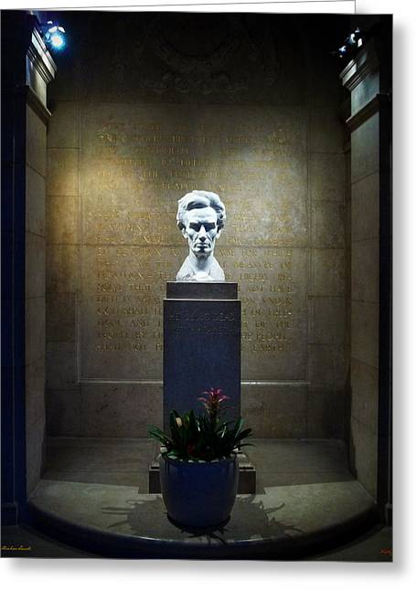 Proclamation Greeting Cards - Lincoln Memorial Shrine - California Greeting Card by Glenn McCarthy