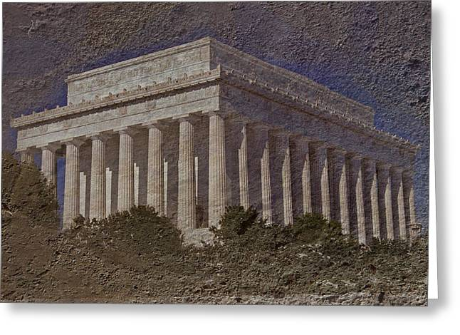 Lincoln Memorial Greeting Card by Skip Willits