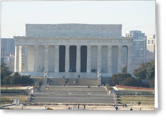 Detail Greeting Cards - Lincoln Memorial - Washington DC - 01131 Greeting Card by DC Photographer