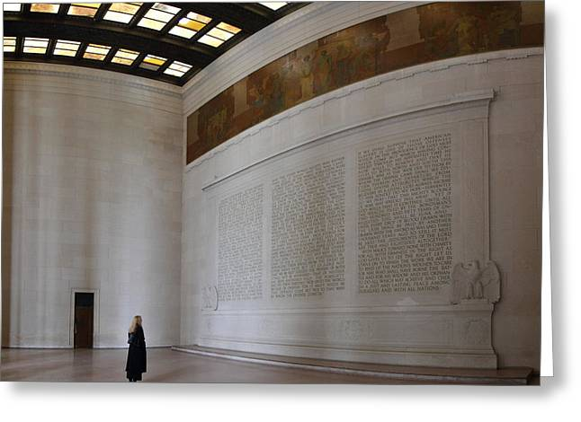 Recently Sold -  - Civil Greeting Cards - Lincoln Memorial - Washington DC - 01132 Greeting Card by DC Photographer