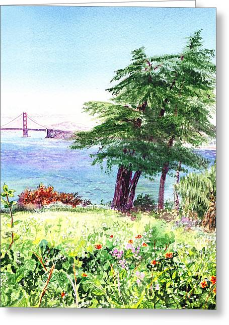 Lincoln Park In San Francisco Greeting Card by Irina Sztukowski