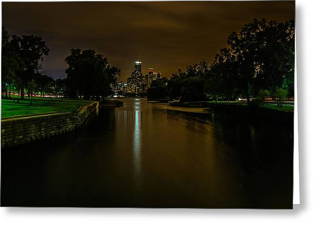 Refelctions Greeting Cards - Lincoln Park Lagoon Greeting Card by Randy Scherkenbach