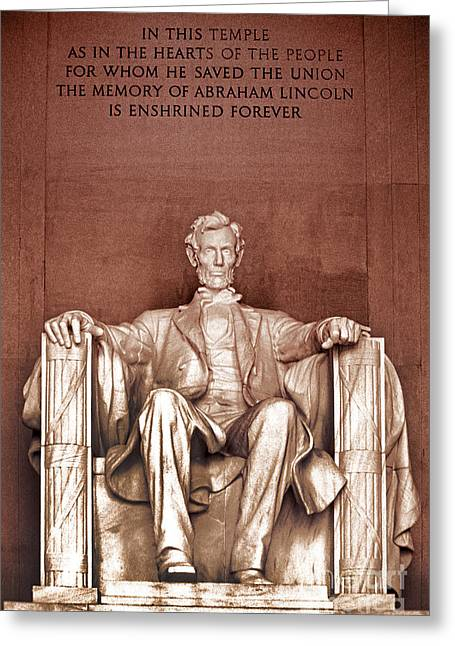 D.w. Greeting Cards - Lincoln Greeting Card by Paul W Faust -  Impressions of Light
