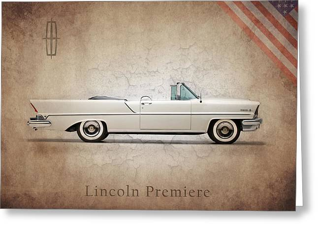 Lincoln Photographs Greeting Cards - Lincoln Premiere 1957 Greeting Card by Mark Rogan